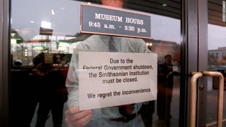 Image from last government shutdown courtesy of CNN.com